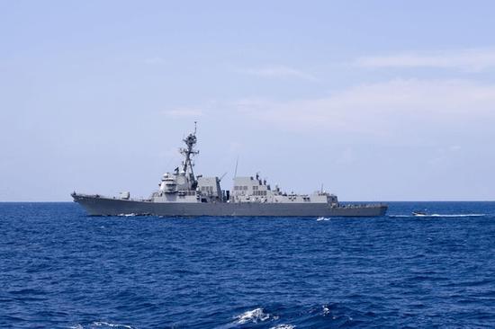 """美国海军""""杜威""""号遣散舰 (来源:美国海军官方网站)"""