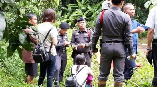 警方搜寻现场(图片来源:泰媒)
