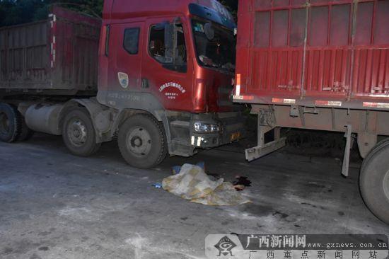 事故现场。广西新闻网通讯员覃成朝摄