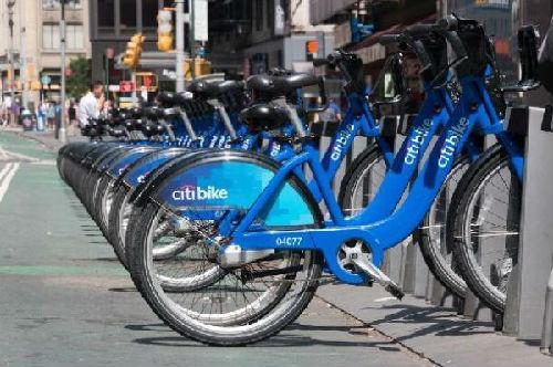 美国街头的共享单车(资料图片)