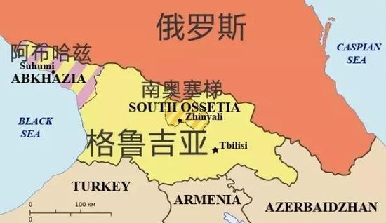 苏联解体后,格鲁吉亚独立,但国内政局一度陷入混乱。