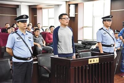 9月13日,被告人王旭光侵犯公民个人信息案在辽宁省沈阳市大东区法院公开审理。图为受审时的王旭光。大东区法院供图