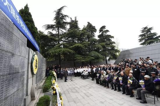 ▲材料图片:4月4日,南京年夜屠戮幸存者及逝世难者遗属举办明朗家祭。