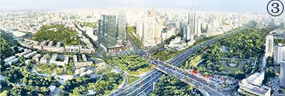 图③:乌鲁木齐市新貌鸟瞰。《乌鲁木齐晚报》供图