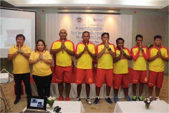 ▲海上救援协会部分救生员出席发布会(图片来源:普吉救援服务Facebook)