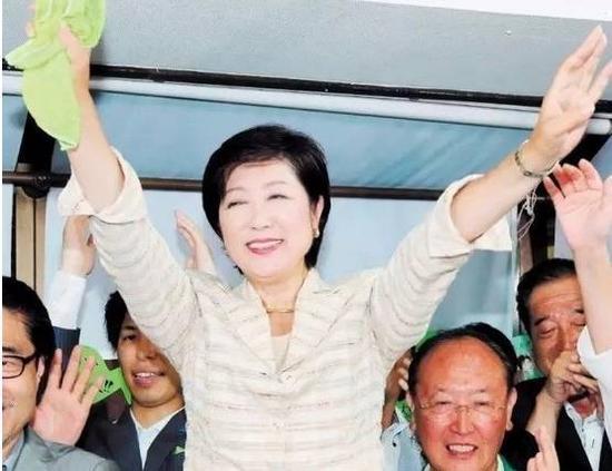 ▲小池百合子当选东京都知事。  图/新华社