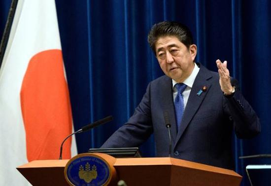 ▲日本首相安倍晋三25日宣布将于28日解散众议院,提前举行大选。 图/新华社