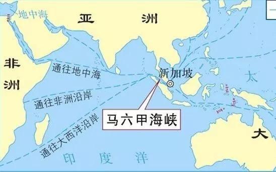 ▲马六甲海峡是全球重要石油航运通道。