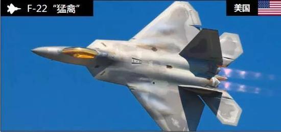 """F-22""""猛禽""""战斗机(图片来源:环球网)"""