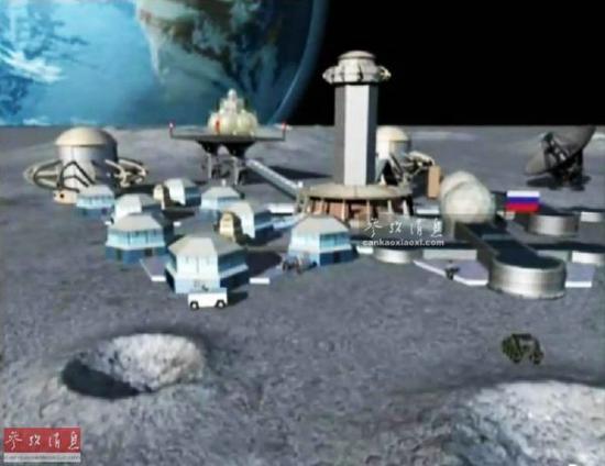 ▲俄罗斯假想的月球基地