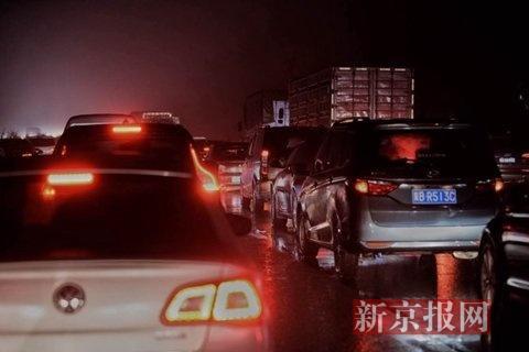 京开高速进京偏向呈现拥挤。
