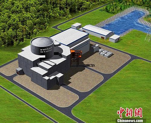 """中国自主知识产权三代核电技术""""华龙一号"""",是中国核电自主创新和集成创新的集大成者,已成为中国与高铁齐名的""""国家名片""""。 中新社记者 中广核 摄"""