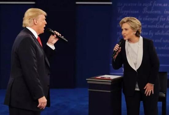 ▲资料图片:特朗普和希拉里第二轮竞选辩论(美联社)