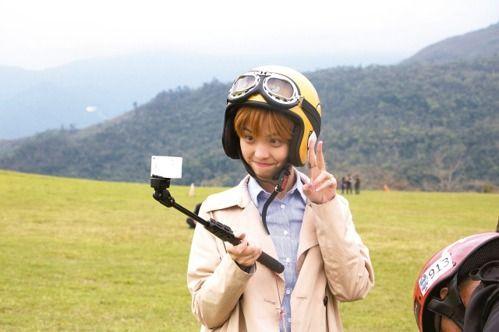 陆生马牧歌在台东玩飞行伞(图片来源:台湾《联合报》)