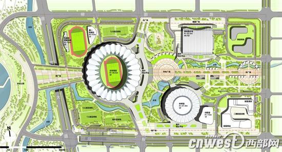 西安奥体中心项目建设规划图
