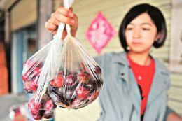 顾客拿来坏了的脆李,王清芳给免费更换。