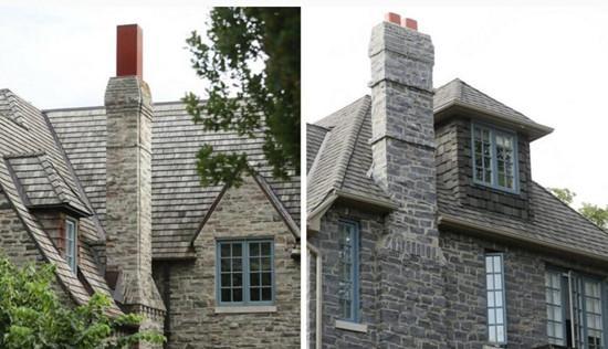 """乔迪称,芭芭拉的房子与他们的房子看起来""""惊人地相似"""",从蓝色的木框窗户、棕色前门到拱形的门楣等。"""