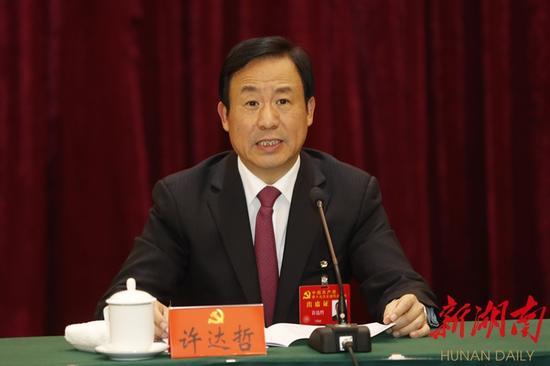 许达哲代表发言。以上图片均为湖南日报记者 罗新国 摄
