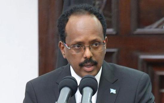 索马里总统穆罕默德·阿卜杜拉希·穆罕默德 视觉中国 资料图