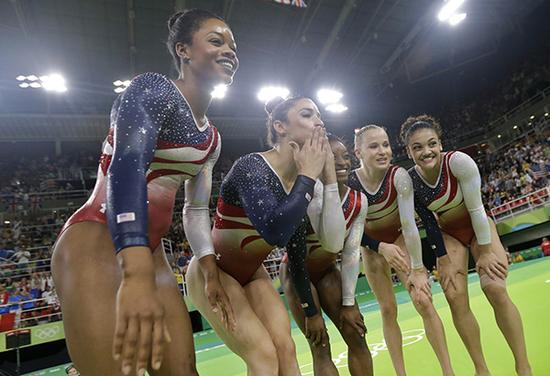 美国体操队。 东方IC 资料图性侵丑闻震惊世界体坛
