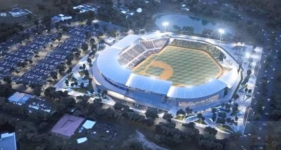 图为尼加拉瓜即将启用的棒球场。(图片来源:《世界日报》)