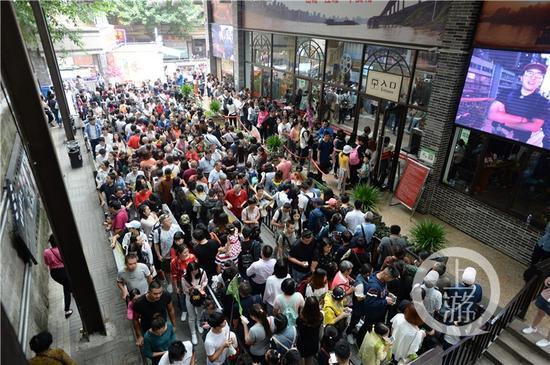 搭客排队等候乘坐长江索道