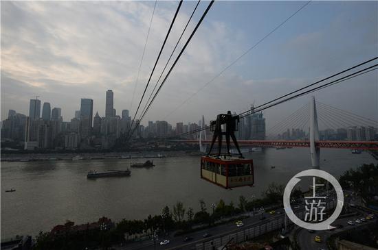 长江索道连通渝中和南岸