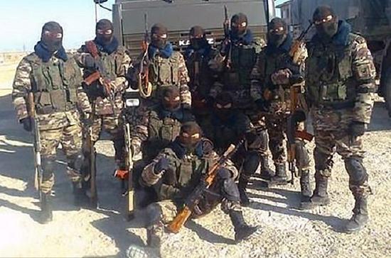 资料图片:网络上流传的在叙利亚作战的俄军雇佣兵图片。(图片来源于网络)
