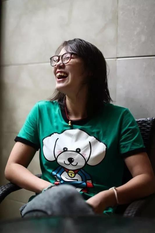 10月11日,傅园慧接受新京报记者采访。新京报记者彭子洋 摄