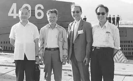 △第一代核潜艇工程四位总师合影(左起赵仁恺、彭士禄、黄纬禄、黄旭华)