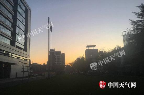 今天清早北京天气晴好。