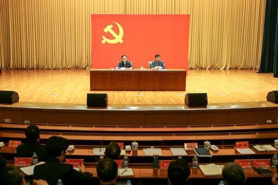 图片说明:11月6日,公安部举行党的十九大精神宣讲报告会。张铮 摄