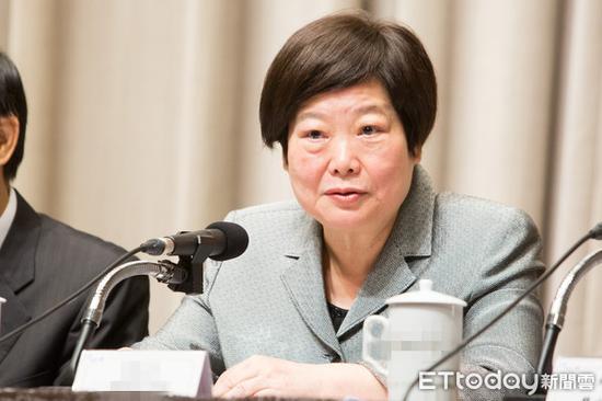 """台当局""""劳动部长""""林美珠9日在记者会说明修正草案重点。(图片来源:台湾""""东森新闻云"""")"""