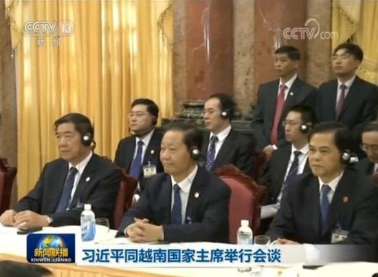 左起:何立峰、彭清华、陈豪