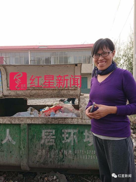 """▲爱上""""捡垃圾""""的陈立雯 图片来源:红星新闻"""