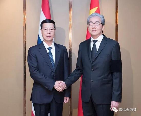 习近平主席特使张高丽会见泰国副总理颂吉