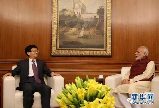 习近平主席特使孟建柱会见印度总理莫迪