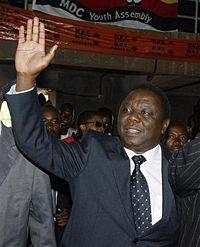 津巴布韦前总理、反对党领袖摩根<span class=
