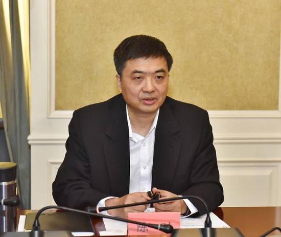 雄安新区党工委书记陈刚揭晓讲话。刘向阳摄