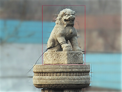 耿聚忠墓华表石狮子