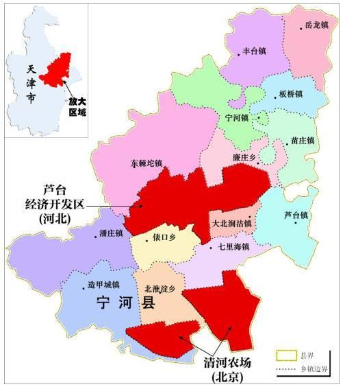 ▲这块飞地西北距北京五环100公里,南距滨海新区核心区15公里,周边毗邻5条高速及快速路。