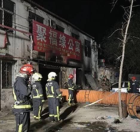 大兴西红门镇新建村火灾现场 图 / 新华社