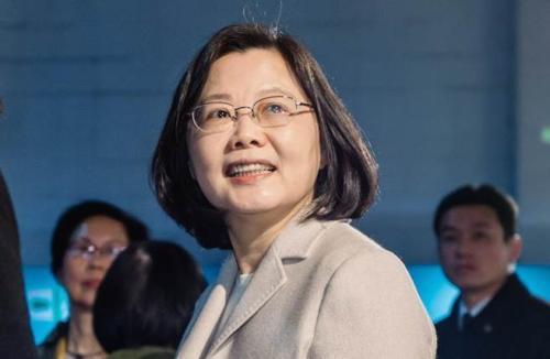 台湾地区领导人蔡英文(图片来源:台湾《中时电子报》)