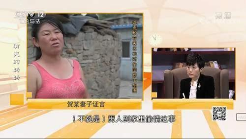 贺某妻子承认丈夫与闫彩斌妻子有偷情这回事。