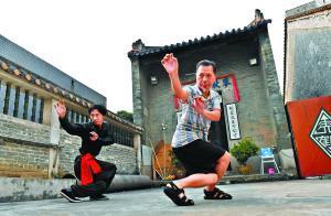 林镇成正在给徒弟教授洪拳。 本文图片 广州日报