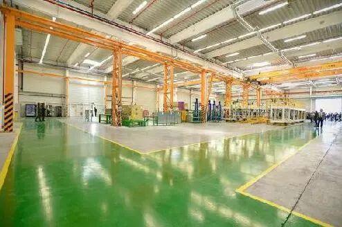 ▲比亚迪匈牙利电动汽车工厂内部一览