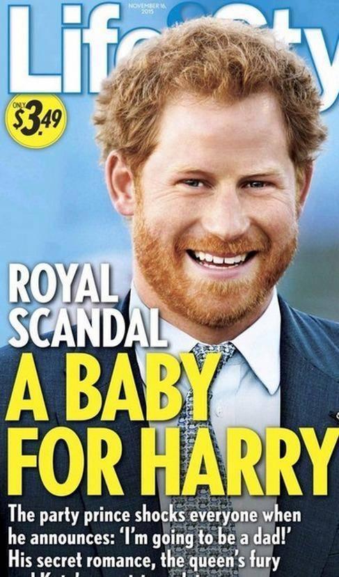 哈里曾被曝把19岁女子肚子搞大。