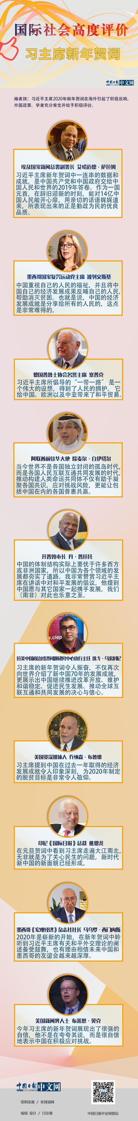 图解:国际社会高度评价习主席新年贺词图片