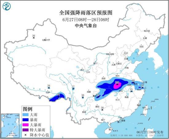 天富官网南湖北等部分地区有天富官网暴雨或特大暴图片