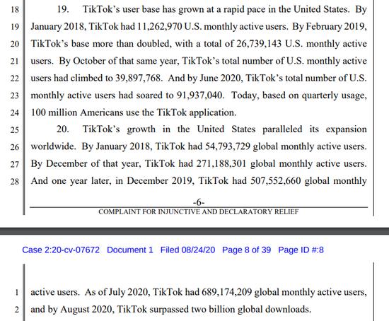 TikTok的起诉书来了:信息量巨大!